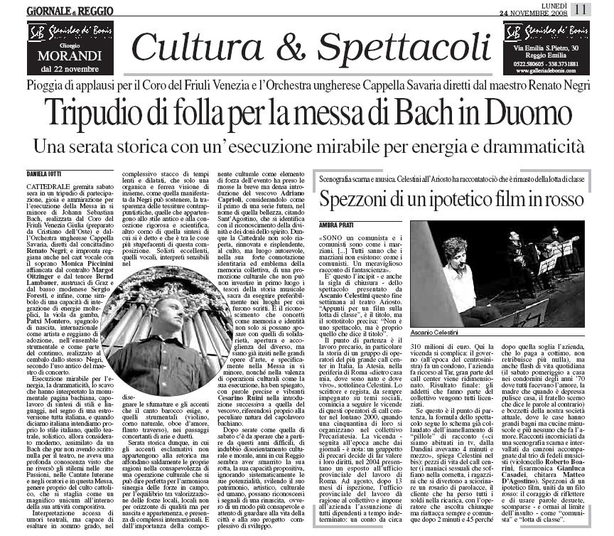 """dal """"Giornale di Reggio"""""""