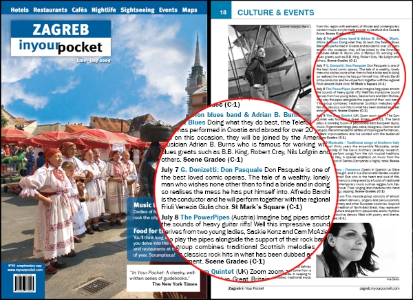 "Magazine ""Zagreb In Your Pocket"""